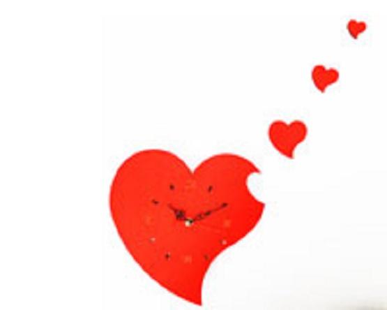 ساعت دیواری دکوراتیو قلب