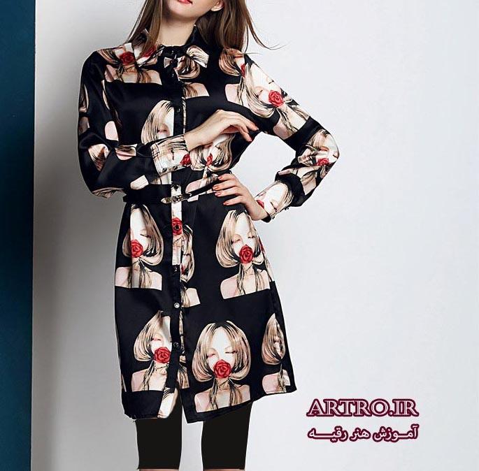مدل مانتو دخترانه طرح دار 2018