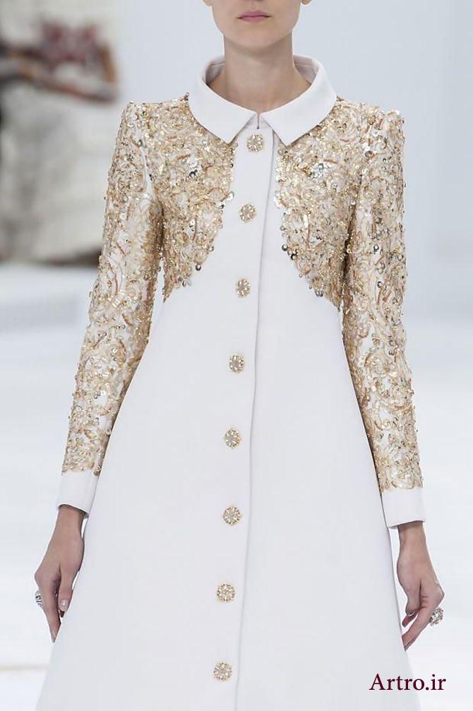 مدل تزیین لباس مجلسی زنانه