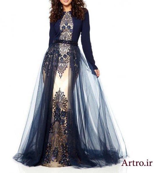 مدل لباس مجلسی بلند جدید5