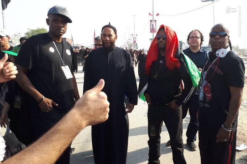 حضور امام جماعت لس آنجلس در پیادهروی اربعین +تصاویر