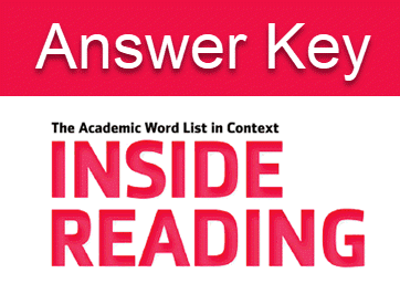 دانلود پاسخ تمرینهای کتاب Inside Reading