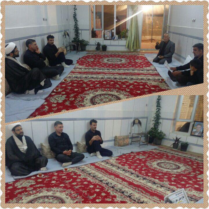 حضور امام جمعه محترم شهر قهدریجان در منزل مرحوم جعفرزاده