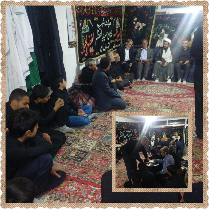 حضور امام جمعه محترم شهر قهدریجان در جمع تعزیه خوانان حسینه اعظم و بیان نکته های برای حاضران