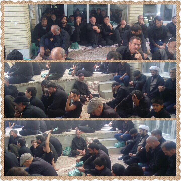 حضور منزل عزاداران امام حسین در روز تاسوعا حسینی