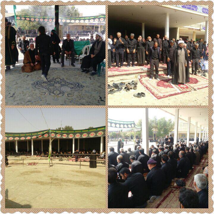 رحضور امام جمعه محترم شهر قهدریجان در حسینیه بزرگ و اقامه نماز جماعت ظهر عاشورا