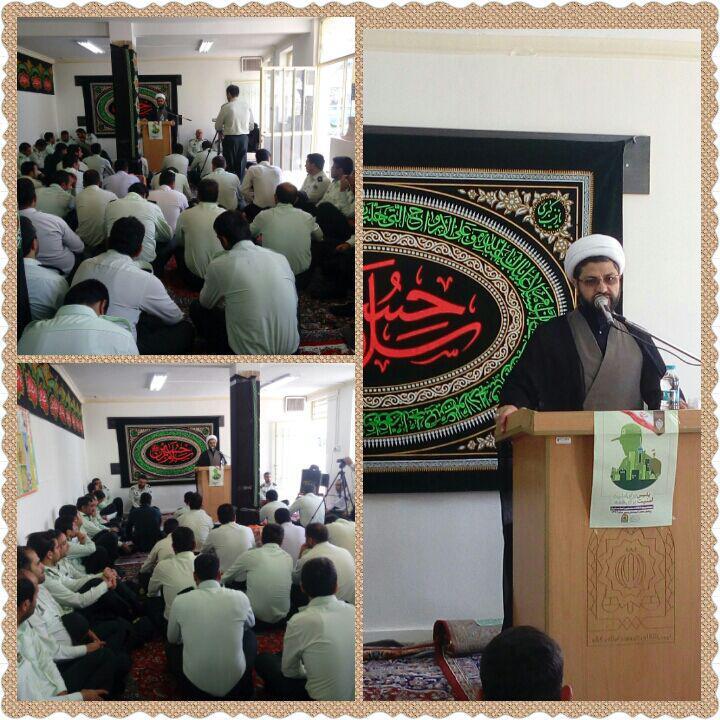 سخنرانی امام جمعه محترم شهر قهدریجان برای اعضای کوپ انتظامی