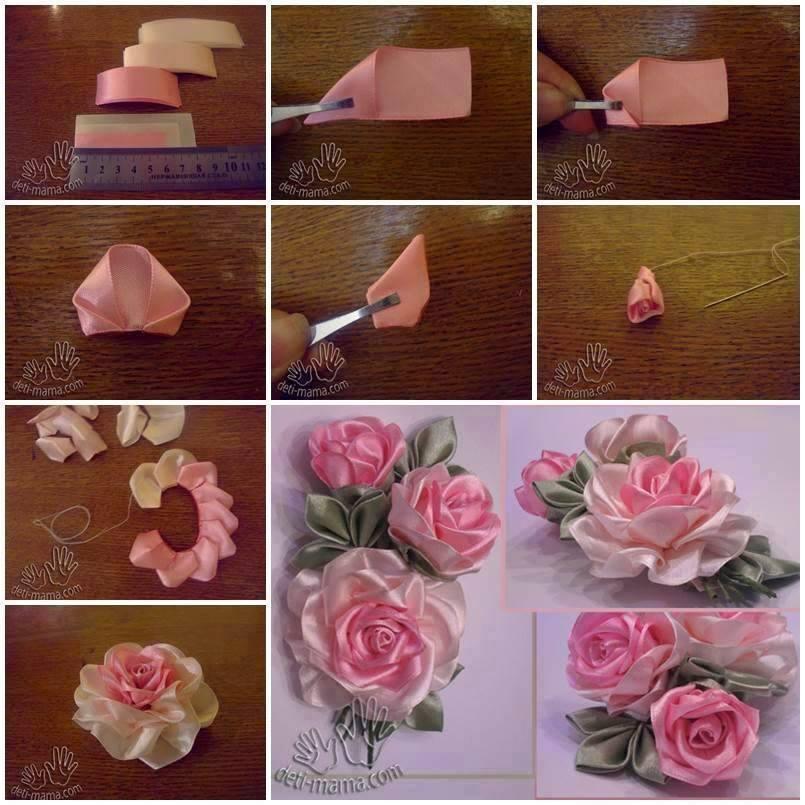 آموزش  مدل گل روبانی2
