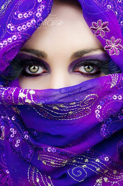 مدل آرایش چشم عربی8