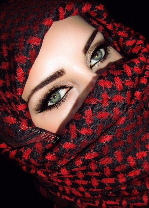 مدل آرایش چشم عربی7