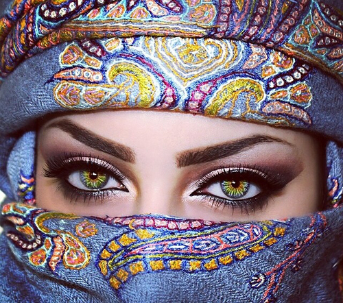 مدل آرایش چشم عربی10