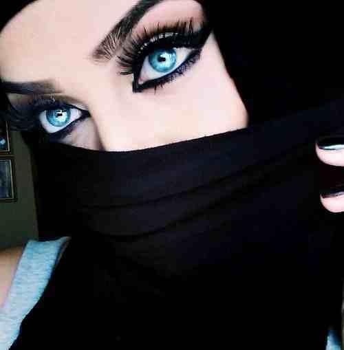 مدل آرایش چشم عربی1