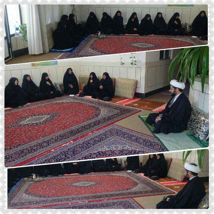 جلسه ستاد خواهران نماز جمعه شهر قهدریجان با حضور امام جمعه محترم شهر