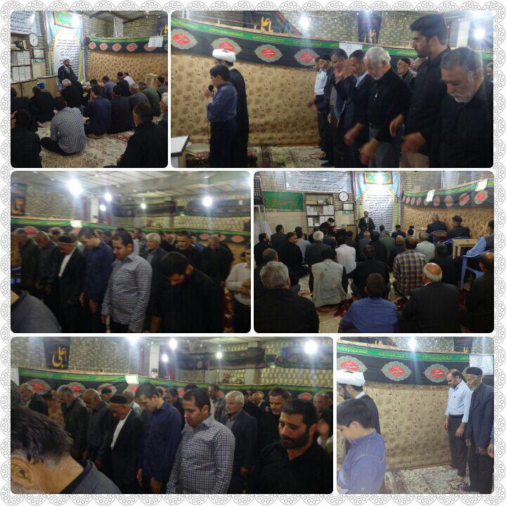 اقامه نماز جماعت و سخنرانی امام جمعه محترم شهر قهدریجان در مسجد امیرالمومنین