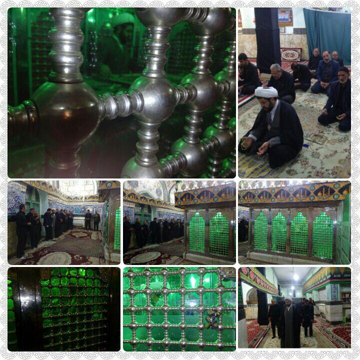 مراسم معنوی غبار روبی سید محمد با حضور امام جمعه محترم شهر قهدریجان