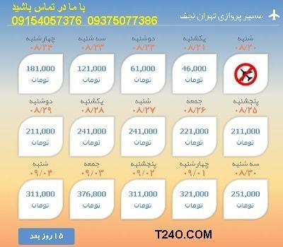 خرید اینترنتی بلیط هواپیما تهران نجف 09154057376