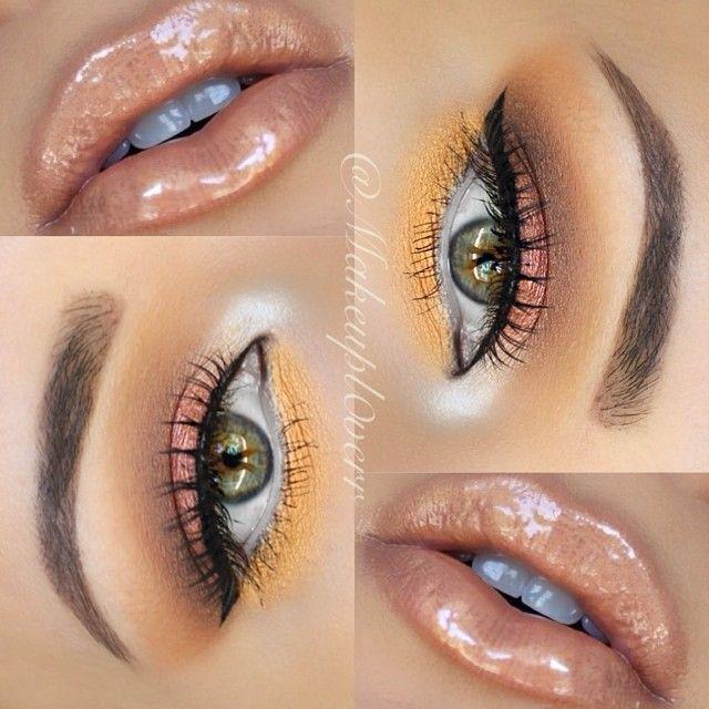 مدل آرایش چشم و لب 2018