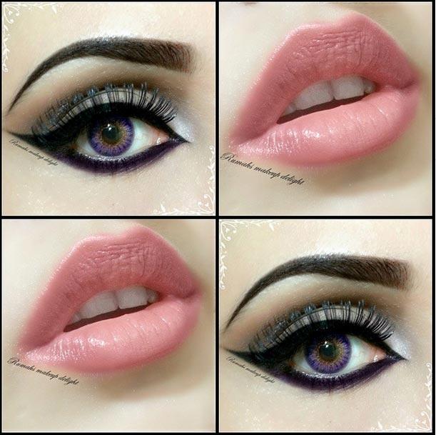 عکس مدل ارایش چشم و لب