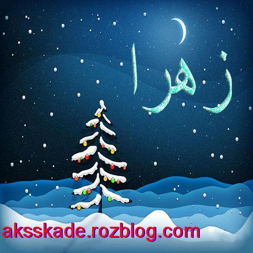 اسم زمستانی زهرا- عکس کده