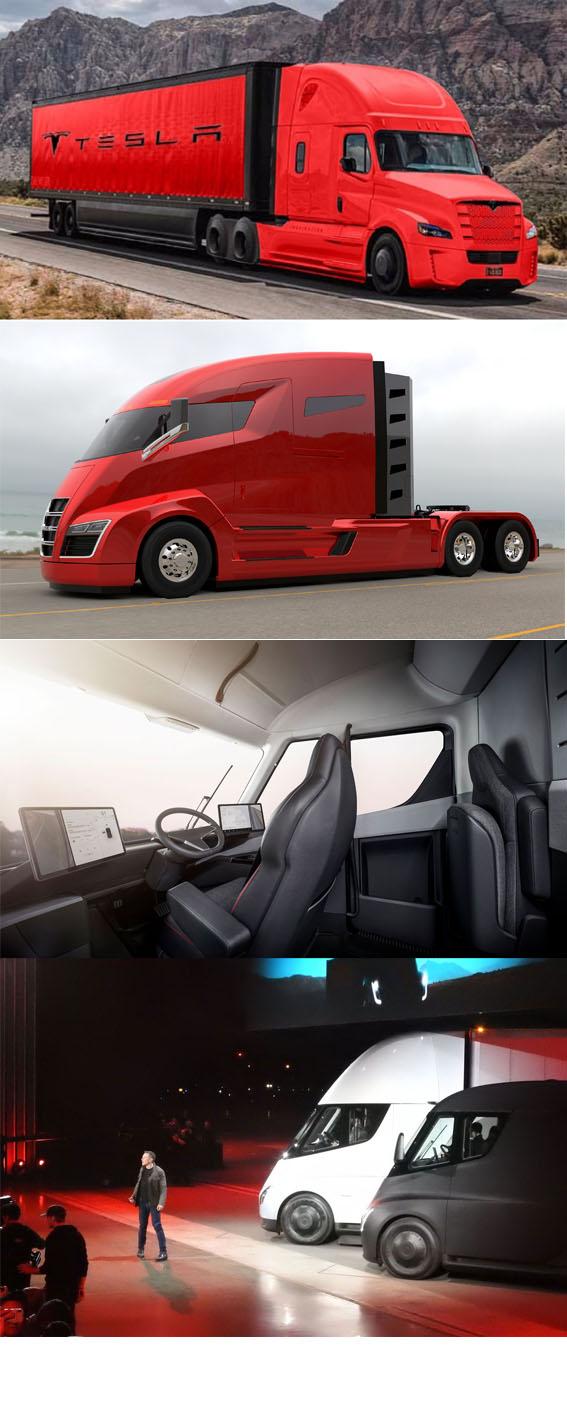 کامیون های برقی تسلا Tesla