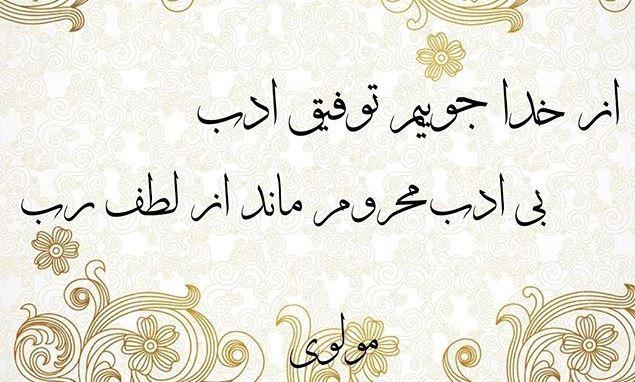 شعر مولانا در باب ادب