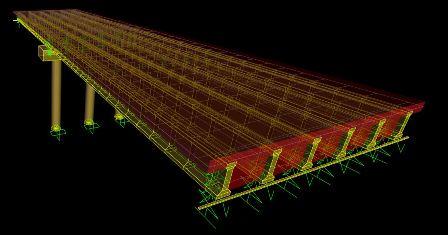 آموزش طراحی و مدلسازی پل بتنی با شاهتیرهای Iشکل