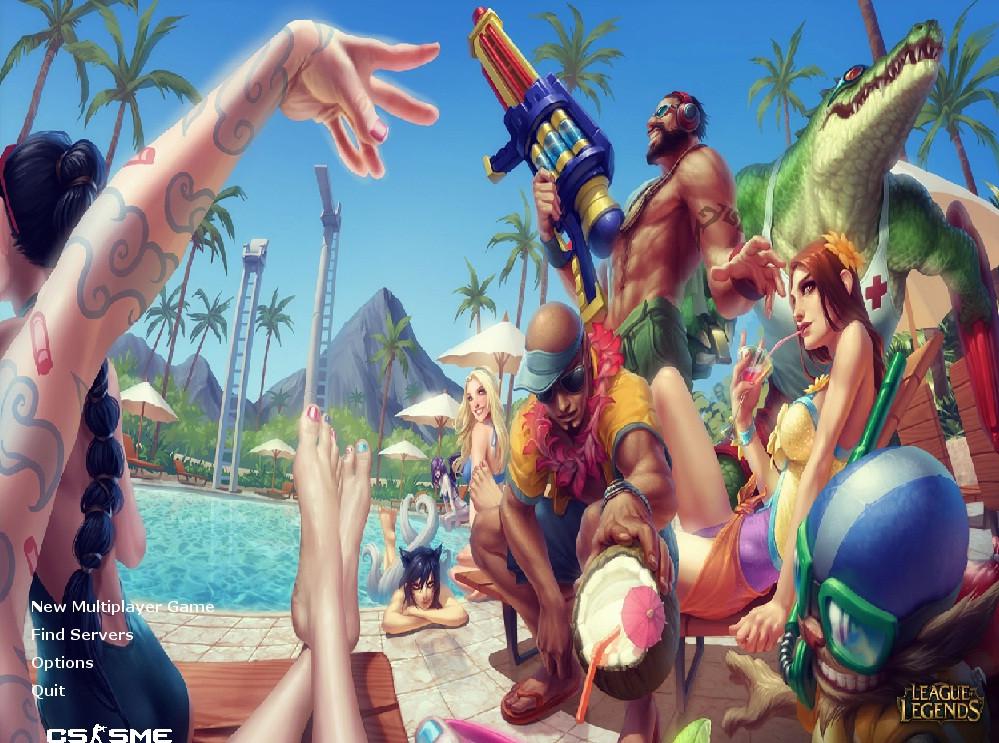 دانلود بک گراند LoL | Pool Party برای کانتر 1.6