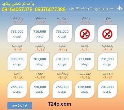 خرید اینترنتی بلیط هواپیما مشهد ترکیه.09154057376