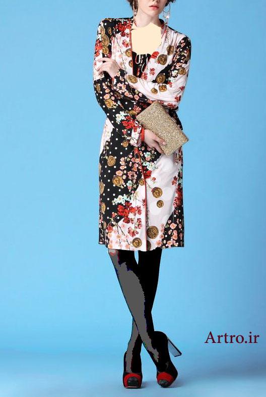 مدل مانتو گلدار جدید و شیک97