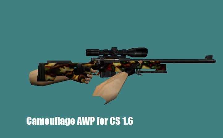 دانلود اسکین اسنایپ Camouflage برای کانتر 1.6