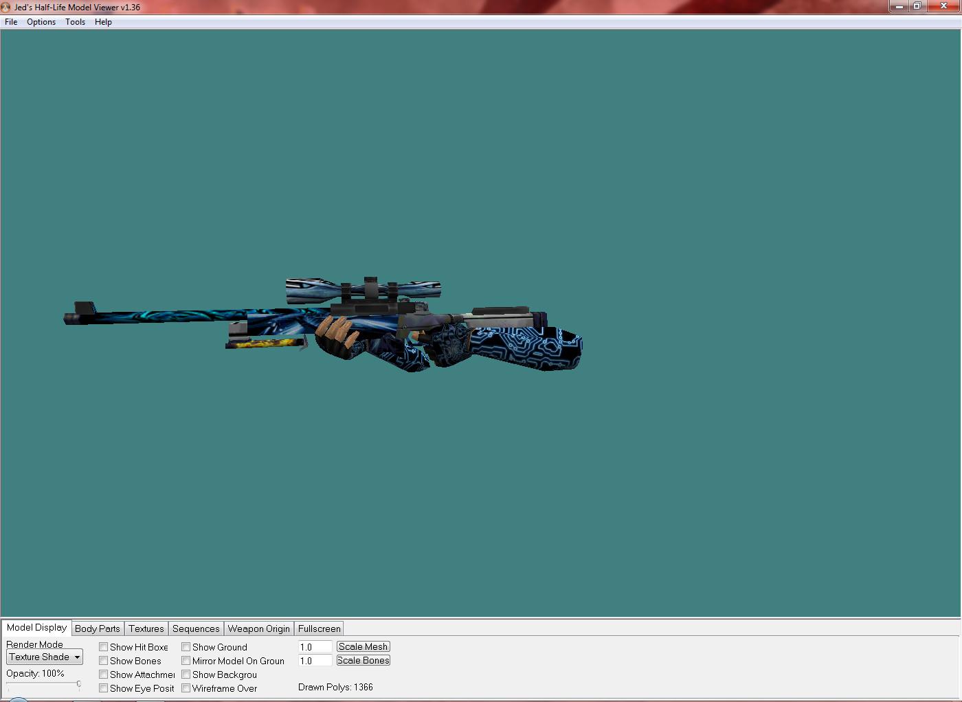 دانلود اسکین اسنایپ Awp Robot Neon برای کانتر 1.6