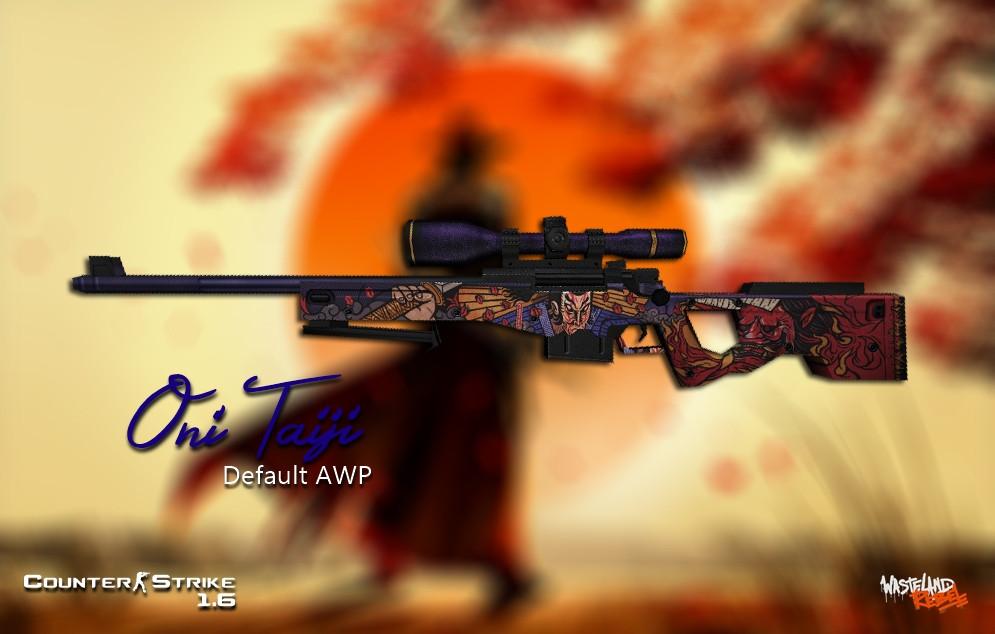 دانلود اسکین اسنایپ AWP Oni Taiji برای کانتر 1.6