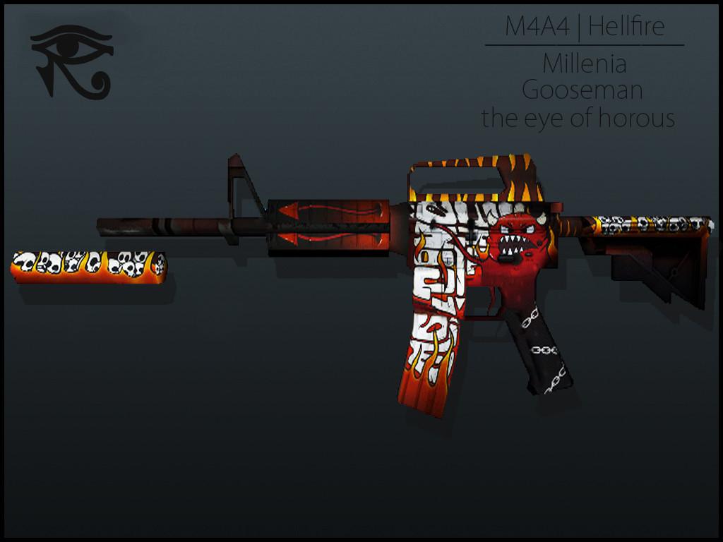 دانلود اسکین ام فور M4A4 | Hellfire برای کانتر 1.6