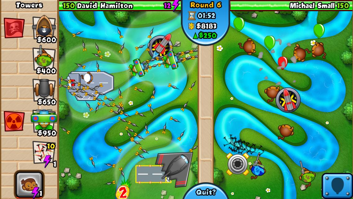 دانلود بازی جنگ میمون ها Bloons TD Battles