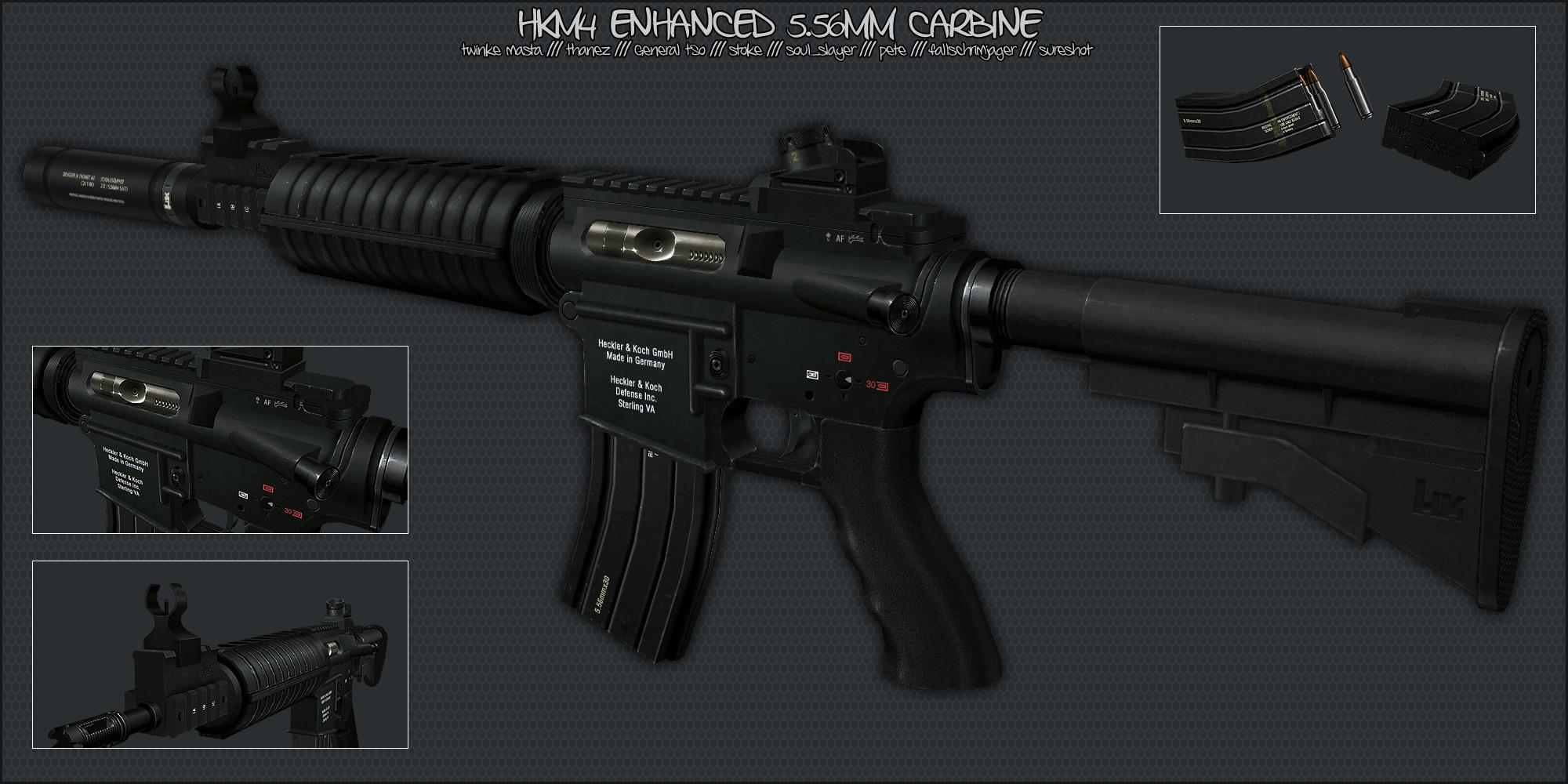 دانلود اسکین ام فور HKM4 Enhanced Carbine برای کانتر 1.6