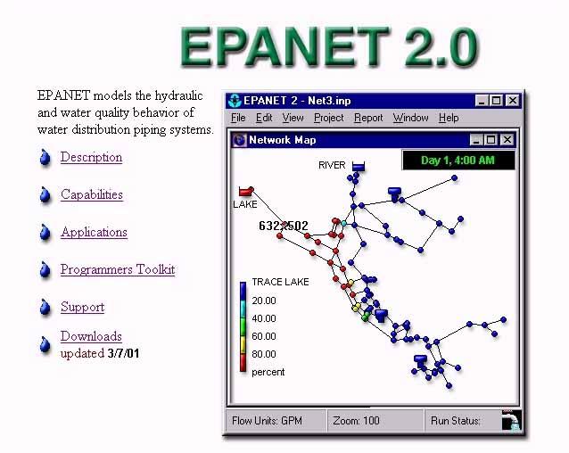دانلود آموزش یک نمونه طراحی شبکه ی آبرسانی با نرم افزار epanet