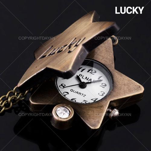 ساعت گردنبندی طرح Lucky