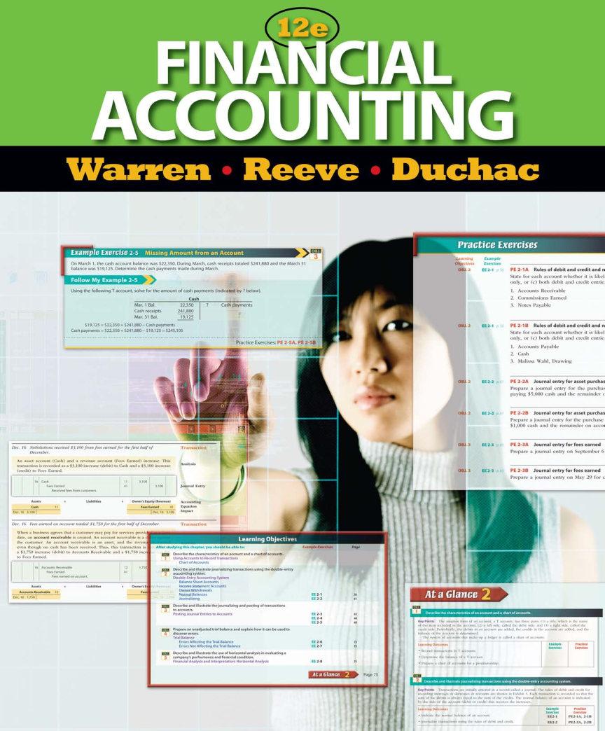 دانلود کتاب حسابداری مالی Warren و Reeve و Duchac - ویرایش دوازدهم