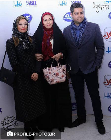 عکس مدل موی یکتا ناصر و روسری آزاده نامداری در کنار شوهرش