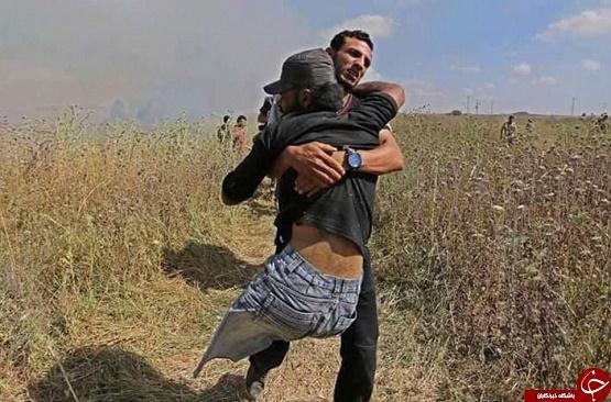 شهادت جانباز فلسطینی به دست تک تیرانداز رژیم صهیونیستی + فیلم و تصاویر