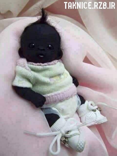 عکس به دنیا آمدن سیاه ترین نوازد جهان با چشمانی باورنکردنی