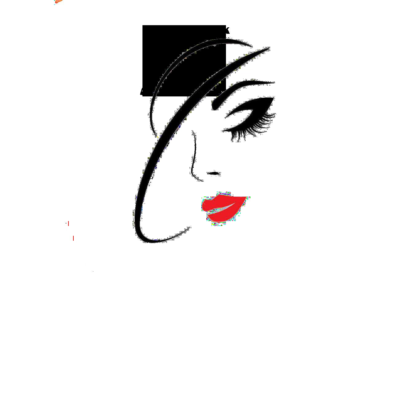 دانلود طرح فتوشاپ لایه باز لوگوی آرایشگاه زنانه
