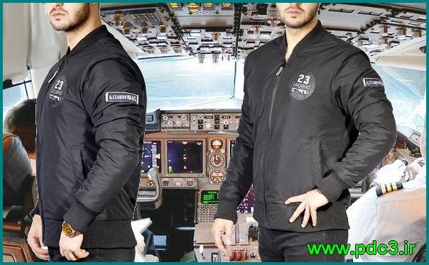 کاپشن مردانه خلبانی مشکی 2018