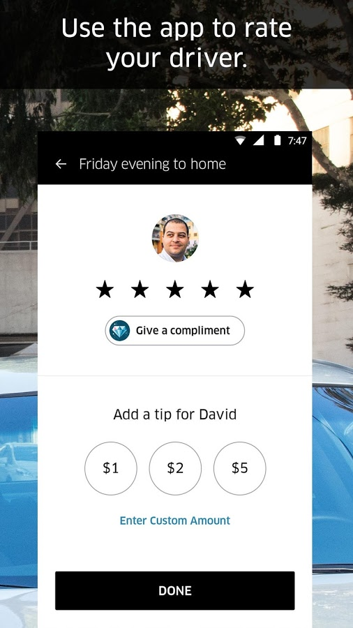 دانلود رایگان برنامه اوبر Uber