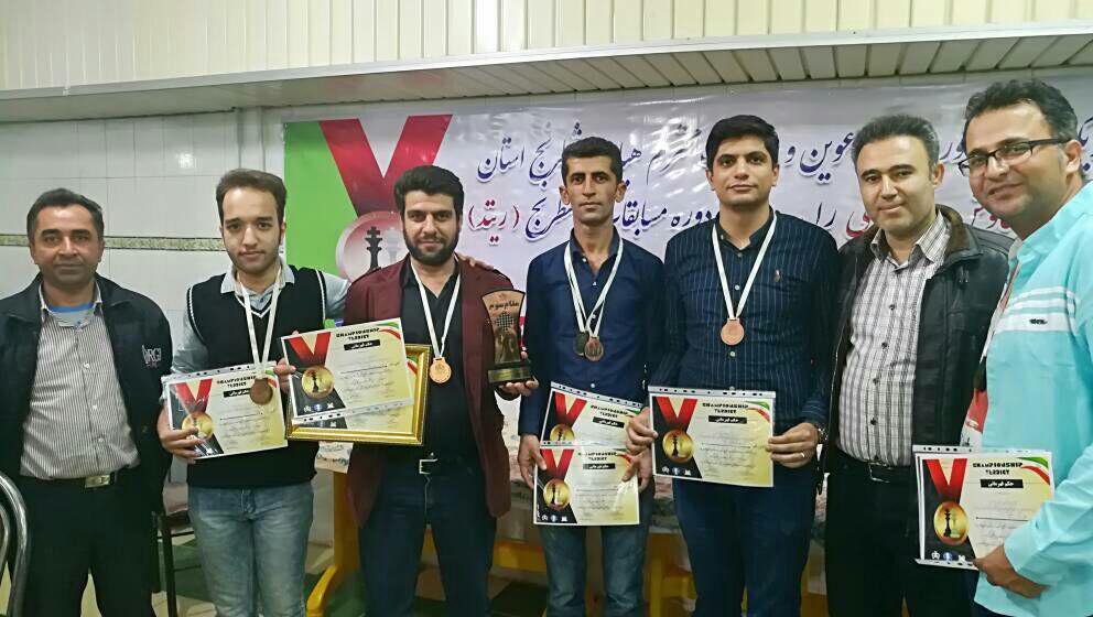 هیات شطرنج کازرون 1 قهرمان سوم مسابقات لیگ شطرنج شهرستان های استان فارس