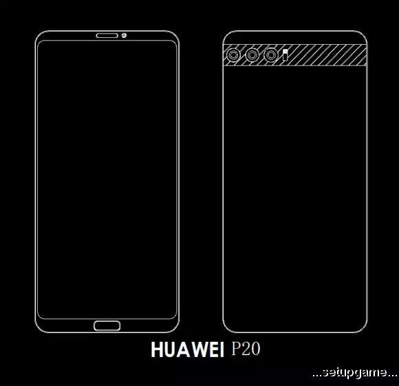 طراحی احتمالی پرچمداران Huawei P20 با دوربین سهتایی