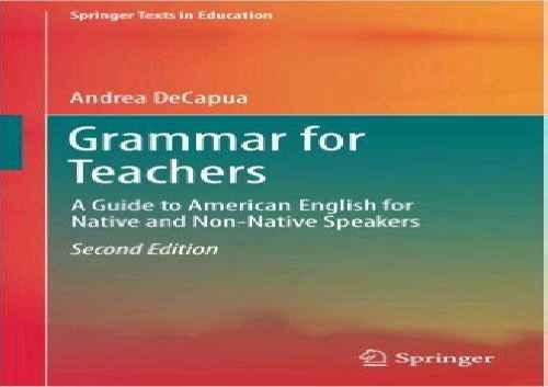 کتاب GRAMMAR FOR TEACHERS second edition