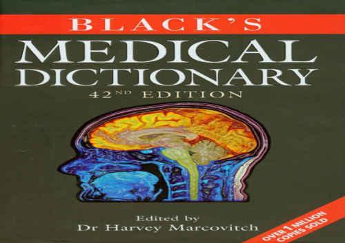 دانلود کتاب Blacks Medical Dictionary ویرایش چهل و دوم (2009)