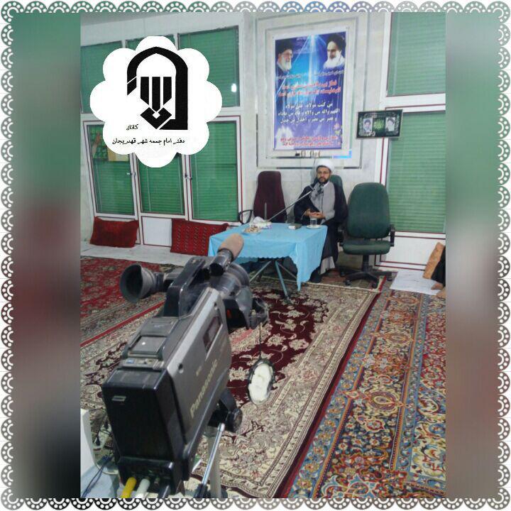 حضور و سخنرانی امام جمعه محترم شهر قهدریجان در منزل حاج آقا جعفرزاده