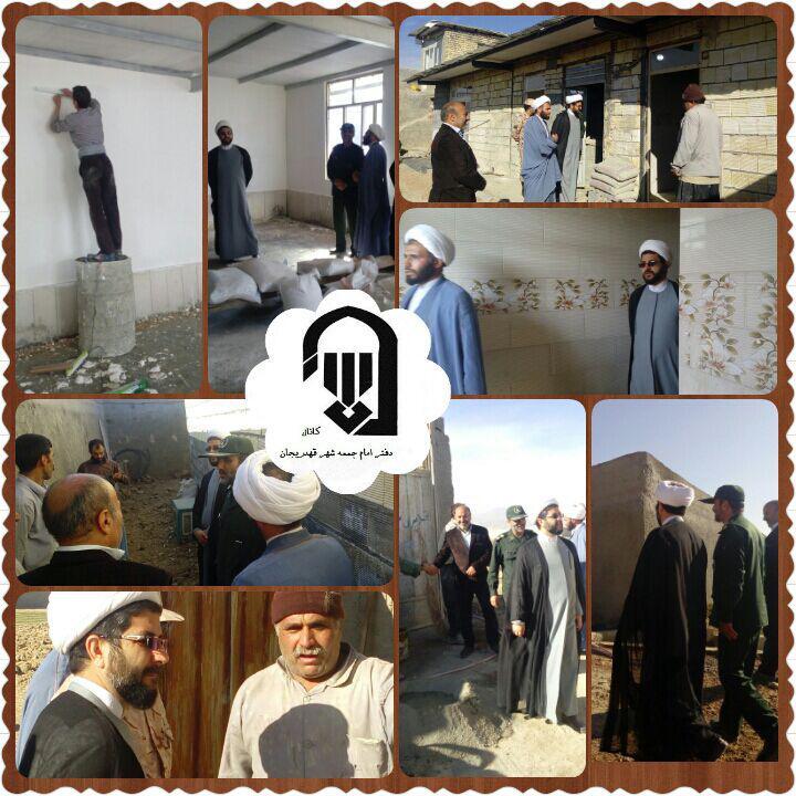 بازدید امام جمعه محترم شهر قهدریجان از مراحل ساخت کمپ ترک اعتیاد شهر